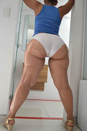 Amazing thick booty see thru leggings 9